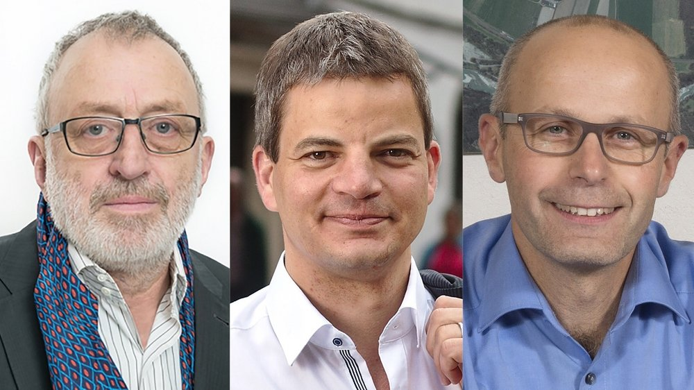 Michel Galliker, Damien Revaz et Xavier Lavanchy